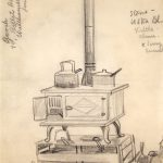 Leonard Thiessen, Stove, graphite on paper (study sketch), n.d.