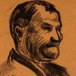 Leonard Thiessen, Head study, charcoal, n.d.