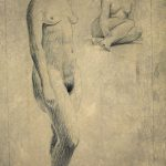 Leonard Thiessen, Sgraffitto Drawing (female nude), sgraffitto, 1937
