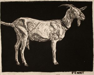 Robert Weaver, Penny, etching (6/10), 1983