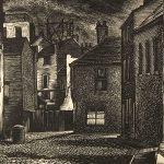 Leonard Thiessen, Untitled (street), engraving, wood block (proof), n.d.