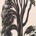 Leonard Thiessen, Untitled (tree), engraving, linoleum block (proof), n.d.