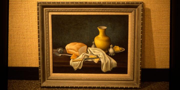 Aaron Pyle, Yellow Vase, egg tempera, 1960