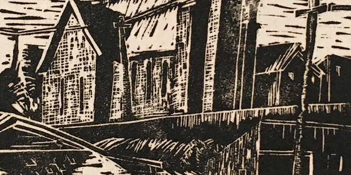 Katherine (Kady) Burnap Faulkner, Greek Church, woodcut (1/50), 1936
