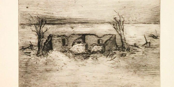 Pearl Love Miller, The Pioneers, engraving (1/4), n.d.
