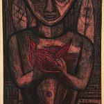 Freda Spaulding, Druid, color intaglio (7/10), 1952