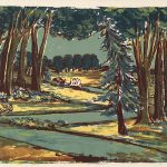 Freda Spaulding, Summer Evening, serigraph, n.d.