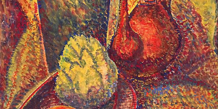 Freda Spaulding, VII - 5 (still life), gouache, n.d.