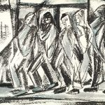 Freda Spaulding, Departure, watercolor, n.d.