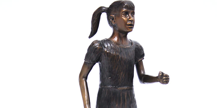 Fred Hoppe, Untitled (running girl), bronze (3/50), 2004