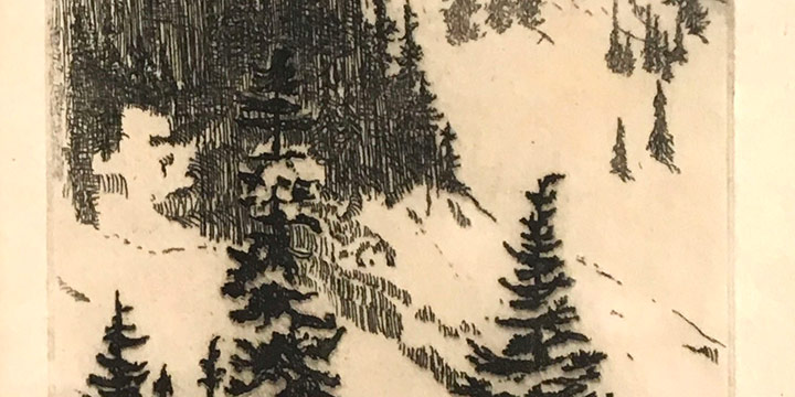 Alice Louise Troxell, Winter in the Mountains, intaglio, n.d.