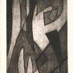 Freda Spaulding, Abstraction #1, intaglio, n.d.