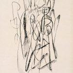 Freda Spaulding, Conversation, ink, 1950