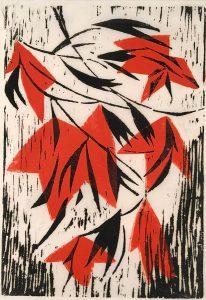 Freda Spaulding, Untitled (#2 Japanese paper), woodcut, n.d.