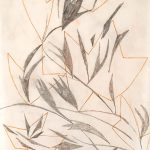 Freda Spaulding, Preparatory Drawing #2 for Untitled (#2 Japanese paper), graphite, color pencil, n.d.