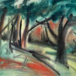 Freda Spaulding, Woodland, watercolor, 1960