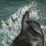 John Falter, Illustration for Halic, The Story of a Gray Seal, tempera on paper, n.d.