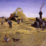 John Falter, Threshing Crew, oil on canvas, 1980