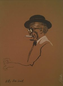 John Falter, Jazz from Life - Willy Lion Smith, lithograph, 1971