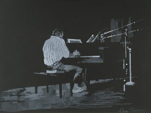 Jazz from Life - Ross Tomkins, lithograph, 1971,