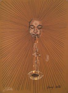 John Falter, Jazz from Life- Benny Carter, lithograph, 1971
