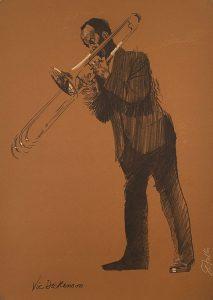 John Falter, Jazz from Life - Vic Dickenson, lithograph, 1971