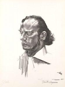 John Falter, Jazz from Life - Dick Hyman, lithograph, 1971