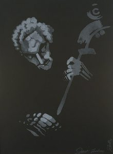 John Falter Jazz from Life- Jack Lesberg, lithograph, 1971