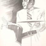 John Falter , Jazz from Life - Bobby Rosengarden, lithograph, 1971