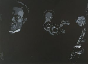 John Falter, Jazz from the Life- Clark Terry & Zoot Sims, lithograph, 1971