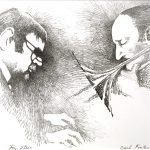 John Falter, Jazz from Life - Lou Stein & Carl Fontana, lithograph, 1971