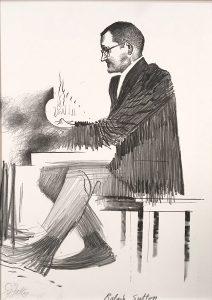 John Falter, Jazz from Life - Ralph Sutton, lithograph, 1971