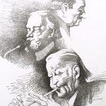 "John Falter, Jazz from Life - Stan Wrightsman, Skeets Herfurt, ""Wild Bill"" Davison,"