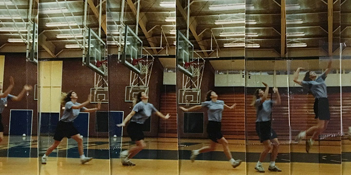 John Raimondi, Athleta Photo Study - volleyball, series of 9, color photograph, 1990