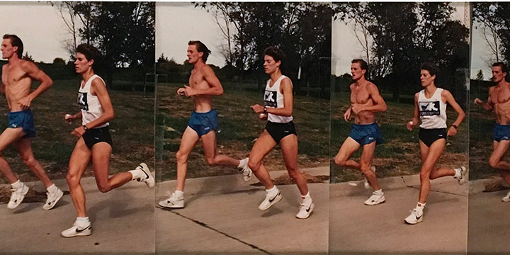 John Raimondi, Athleta Photo Study - runner, series of 8 , color photograph, 1990