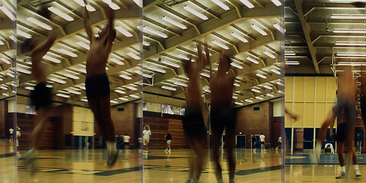 "John Raimondi, Athleta Photo Study - basketball, series of 14, color photograph, 1990, 5¼ × 36½"""