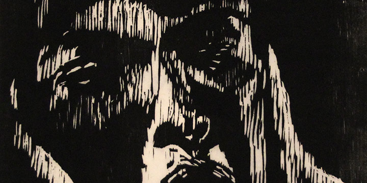 Barbara Kendrick, Darkness, woodcut (2/15). 1973