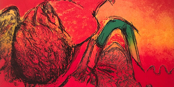 Rosemary Kuehn (Brewer), The First Suite – The Morning of the Red Frost, intaglio (6/28), 1973