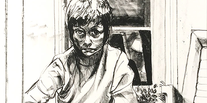 Julia Patterson, The First Suite - Self Portrait, lithograph (6/28), 1973