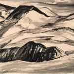 Freda Spaulding, Trailridge, ink, 1950