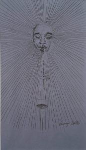 Jazz Drawing #2 - Benny Carter, pencil, n.d.