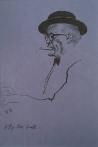 John Falter, Jazz Drawing #4 - Willy Lion Smith, pencil, n.d.