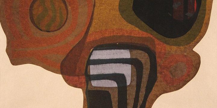 Jack Hughes, Untitled (abstract), silkscreen print (a/p), 1966