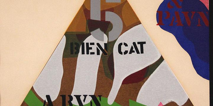Jack Hughes, War Pyramid, silkscreen print(2/20), 1966