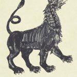 Rudy Pozzatti, Darwin's Bestiary - Gryphon, artist's book: lithograph (79/191), 1985-1986