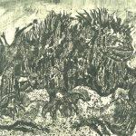 Rudy Pozzatti,Darwin's Bestiary - Iguana, artist's book: lithograph (79/191), 1985-1986