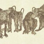 Rudy Pozzatti, Darwin's Bestiary - Baboons, artist book: lithograph (79/191), 1985-1986