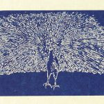 Rudy Pozzatti, Darwin's Bestiary - Colophon with Peacock, artist book: lithograph (79/191), 1985-1986