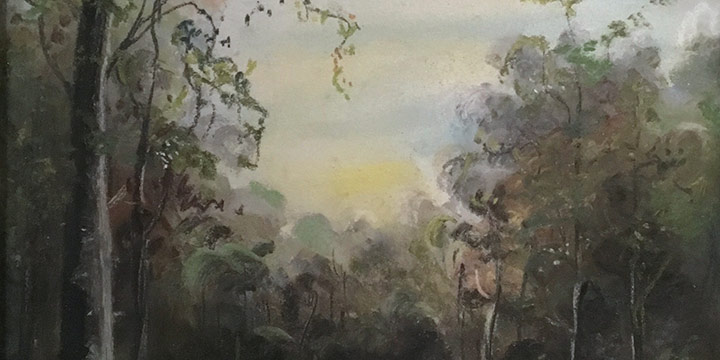 Nina Frank, Untitled (landscape), pastel, n.d.