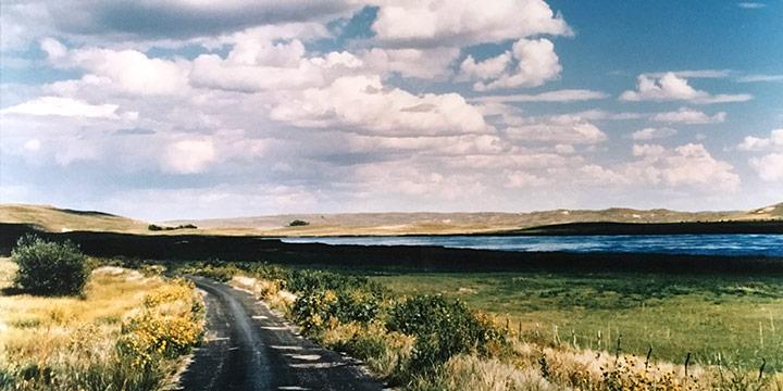 Kira Gale, Lake Scene - Sandoz Country, color photograph (1/50), 1987